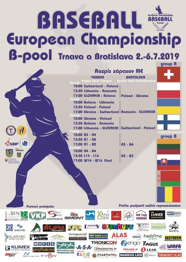 Slovenskí bejzbalisti budú v Trnave bojovať o miestenku na európskom šampionáte