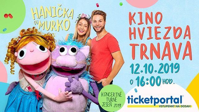 Do kina Hviezda prídu v sobotu známe bábky Hanička a Murko