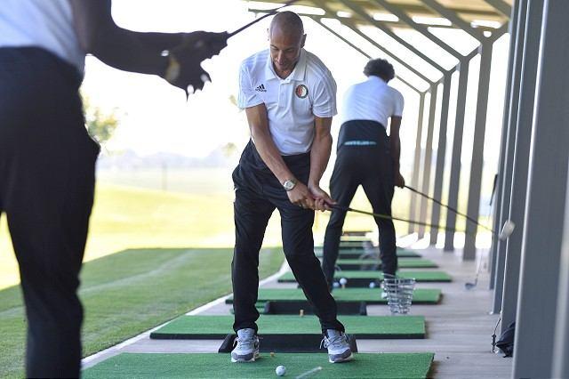 Futbalové hviezdy Larsson a van Hooijdonk si vyskúšali golfový areál v Trnave