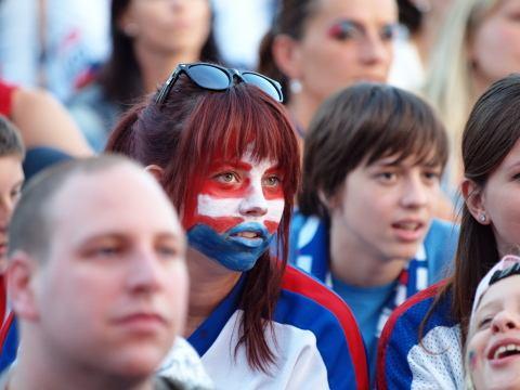 Slovenskóóó! kričali stovky hokejových fanúšikov na Slávii