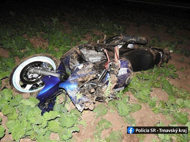 Medzi Trnavou a Špačincami havaroval motorkár z Malženíc