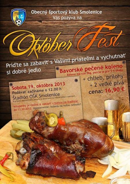 OktóberFest: Smolenice lákajú na pečené kolená a pivo