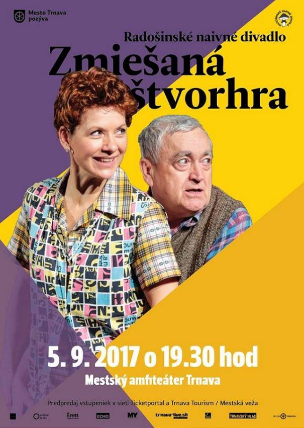Radošinské naivné divadlo uvedie v Trnave hru Zmiešaná štvorhra