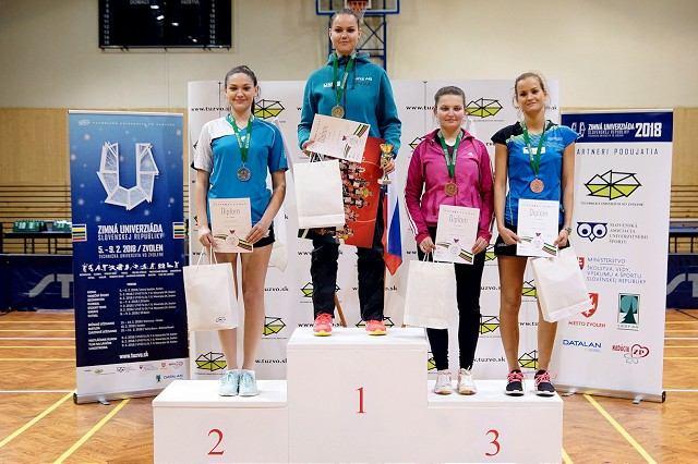 Trnavské stolné tenistky bodujú aj na úrovni škôl a univerzít