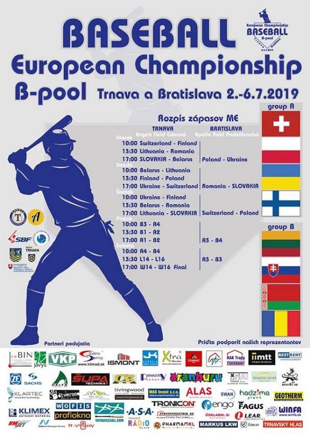 V Trnave sa začína bejzbalový šampionát, Slováci privítajú v utorok Bielorusko