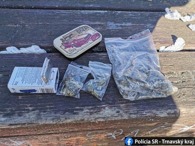 V  Bernolákovom parku zadržali policajti mladíkov s marihuanou