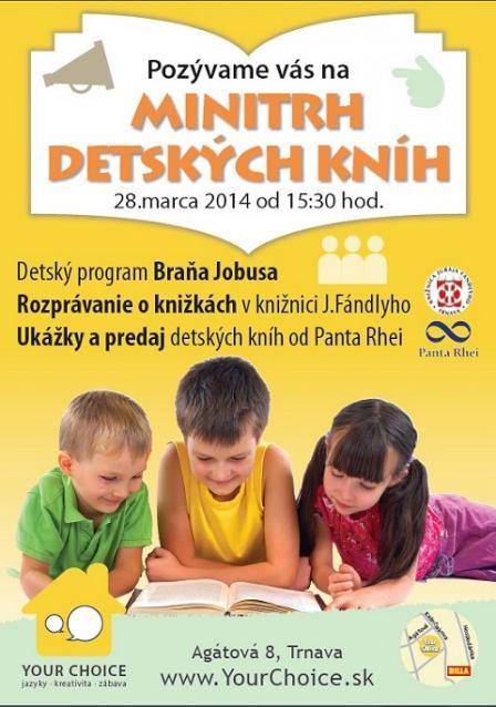 Your Choice chystá na piatok minitrh detských kníh, príde aj Braňo Jobus