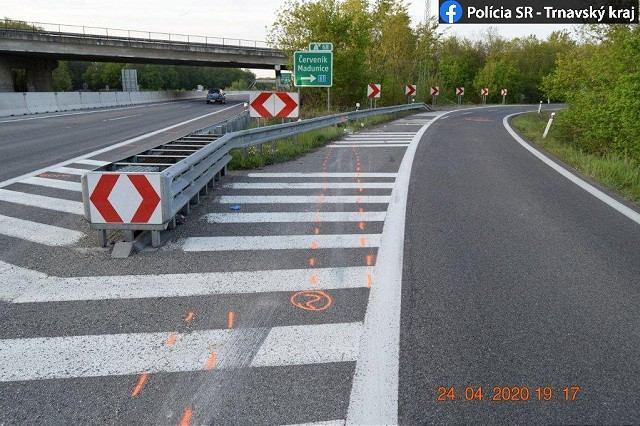Tragická nehoda: Na diaľnici pri Červeníku vyhasol život motorkára